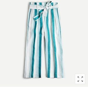 J. Crew paper bag linen pants size 4 NWT